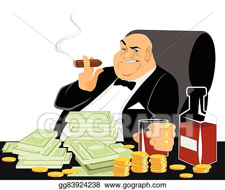 Rich And Poor stock vector. Image of society, suitcase ... |Wealthy Black Man Drawing