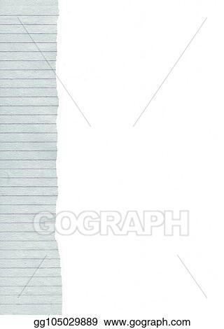 Clip Art Ripped Lined Paper Background Stock Illustration