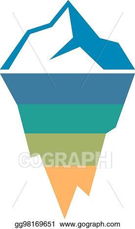 Vector Art Risk Analysis Iceberg Diagram Template Eps Clipart