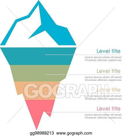 vector illustration risk analysis iceberg vector diagram stock rh gograph com titanic iceberg clipart iceberg lettuce clipart