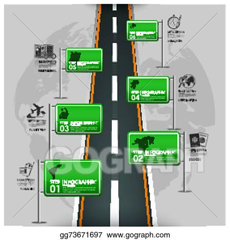 Clip Art Vector Road And Street Traffic Sign Business Travel