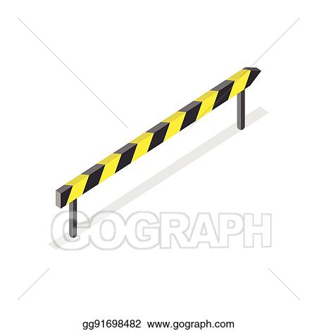 Vector Illustration - Road construction, roadblock sign  Stock Clip