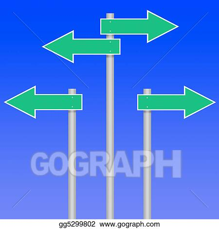 stock illustrations road sign arrows stock clipart gg5299802