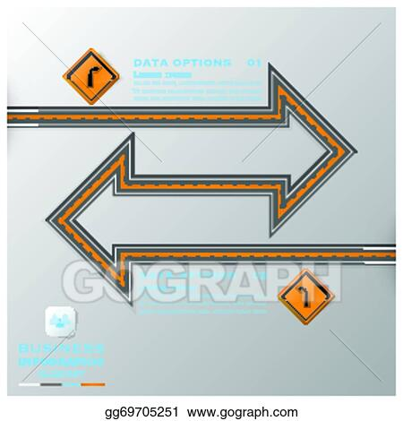 Vector Art - Road & street traffic sign business infographic design ...