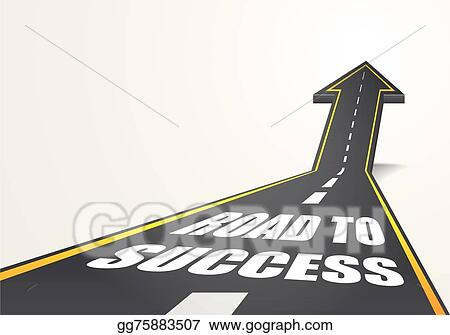 Vector Clipart - Road to success. Vector Illustration ...
