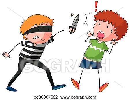 vector stock robber is threatening a man stock clip art rh gograph com bank robber clipart free robber clipart free