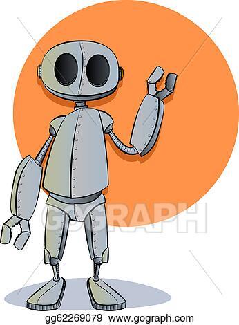 Vector Art Robot Cartoon Clipart Drawing Gg62269079 Gograph