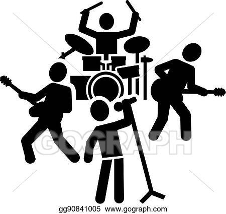Clip Art Vector Rock Band Pictogram Stock Eps Gg90841005 Gograph