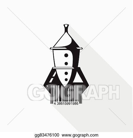 Vector Art - Rocket barcode vector illustration  EPS clipart