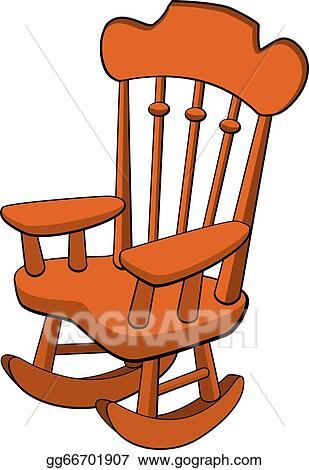 Sensational Clip Art Vector Rocking Chair Stock Eps Gg66701907 Gograph Squirreltailoven Fun Painted Chair Ideas Images Squirreltailovenorg