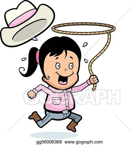 Clip Art Vector - Rodeo girl. Stock EPS gg56006368 - GoGraph 55b9abaa4bc