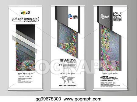 Vector Illustration - Roll up banner stands, flat design templates