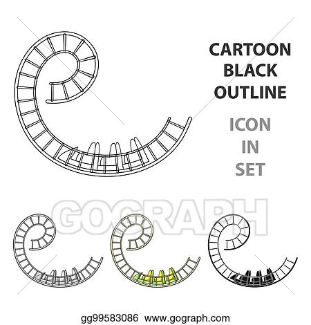 Stock Illustration Roller Coaster For Children And Adults Dead