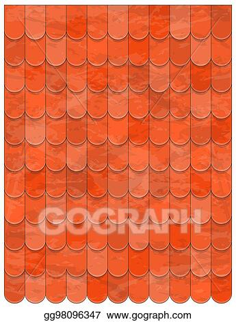 Clip Art Vector Roof Clay Tiles Texture Beautiful Banner Wallpaper Design Illustration Stock Eps Gg98096347 Gograph