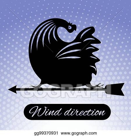 Rooster Weather Vane Clip Art - Royalty Free - GoGraph