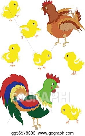 Drawing Roosterhenchicks Clipart Drawing Gg56578383 Gograph