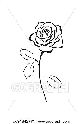 Vector Stock Rose Flower Vector Icon Stock Clip Art Gg91842771