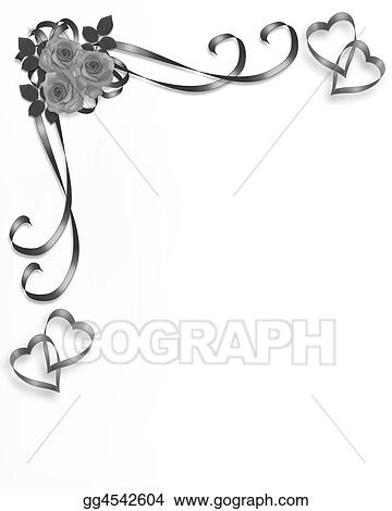 drawing roses wedding corner clipart drawing gg4542604 gograph