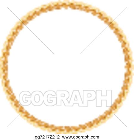 b4734e783f5b Vector Stock - Round frame vector - gold chain on the white ...