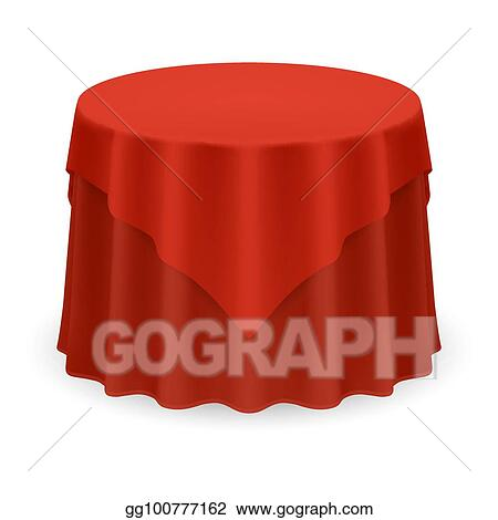 eps vector round tablecloth stock clipart illustration rh gograph com Banquet Table Clip Art checkered tablecloth clipart