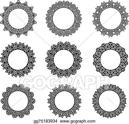 Vector Art - Round vintage celtic frames. EPS clipart gg75183934 ...