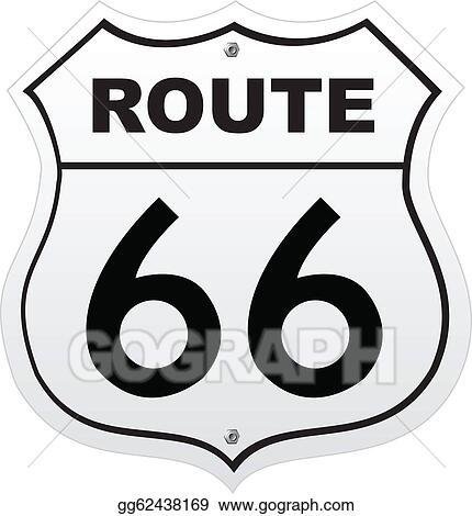 Vector Art Route 66 Eps Clipart Gg62438169 Gograph