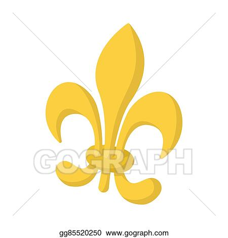 Stock Illustrations Royal French Lily Icon Cartoon Style Stock