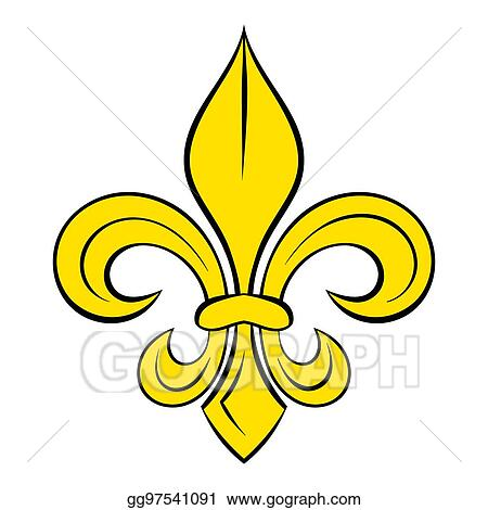 Stock Illustrations Royal French Lily Icon Cartoon Stock Clipart