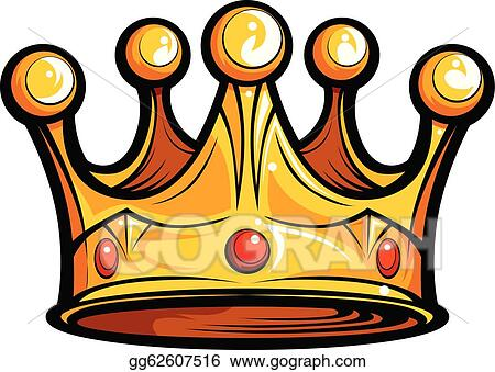 vector illustration royalty or kings crown cartoon vector image rh gograph com clipart crowns for kings