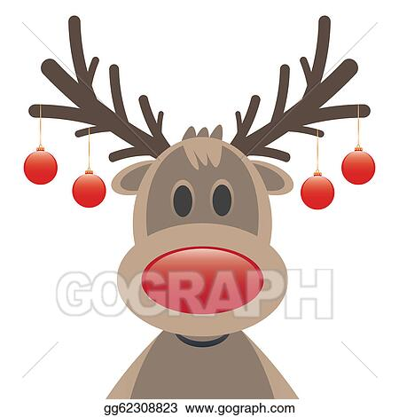 merry christmas rudolph reindeer red nose christmas balls - Free Christmas Images Clip Art