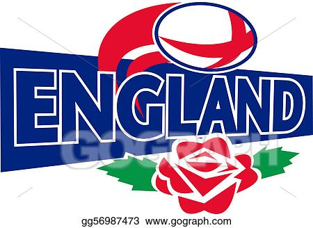 Rugby ball english red rose england
