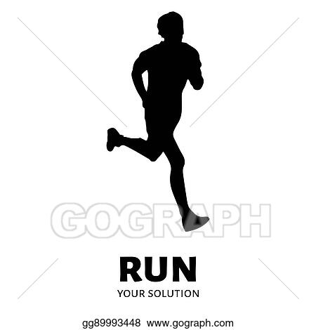 vector art runner vector logo brand s logo in the form of a runner clipart drawing gg89993448 gograph https www gograph com clipart license summary gg89993448