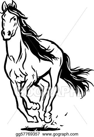 eps illustration running horse vector clipart gg57769357 gograph rh gograph com horse vector free horse vector images