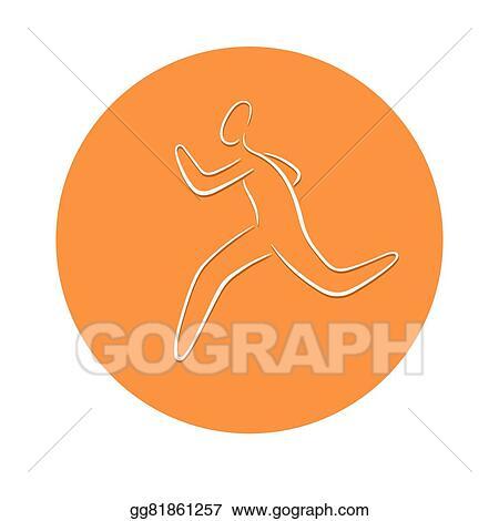 Vector Stock Running Man Symbol Clipart Illustration Gg81861257