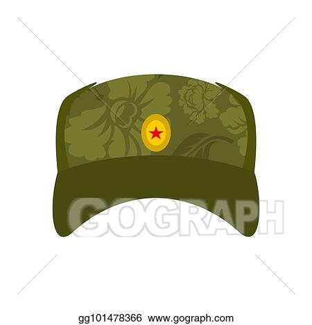 fc7692d47 Vector Illustration - Russian soldier cap isolated. summer hat is ...