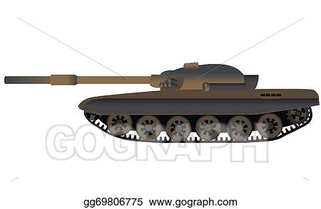 573f4f0a20f83 EPS Illustration - Russian tank t-72 side view. Vector Clipart ...