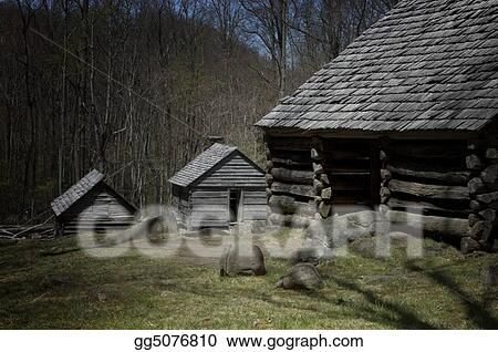 Stock Photos Rustic Cabins Smoky Mountains Nati Stock