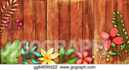 Rustic Floral Fence Border