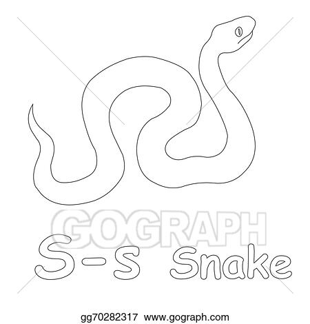 clip art s for snake coloring page stock illustration gg70282317