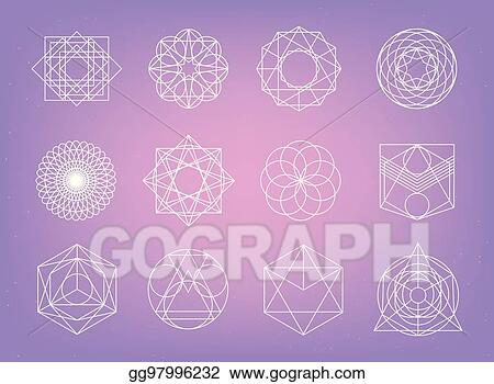 Vector Stock - Sacred geometry symbols collection  hipster