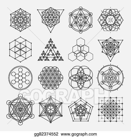 Vector Illustration Sacred Geometry Vector Design Elements