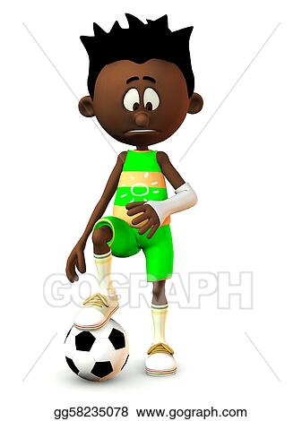 clipart sad black cartoon boy with broken arm stock illustration rh gograph com