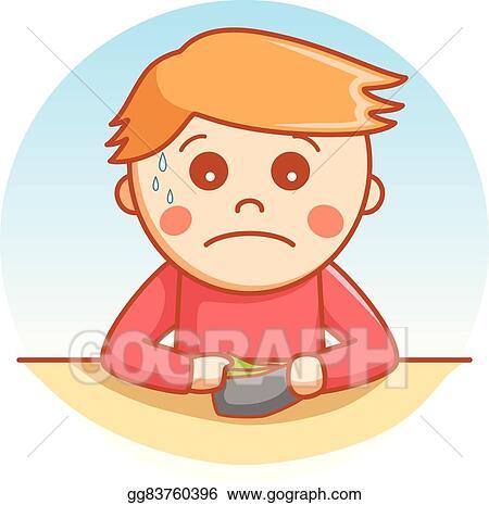 Vector Clipart Sad Boy Cartoon Illustration Vector Illustration