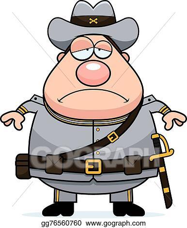 clip art vector sad cartoon confederate soldier stock eps rh gograph com confederate clip art free confederate memorial day clipart