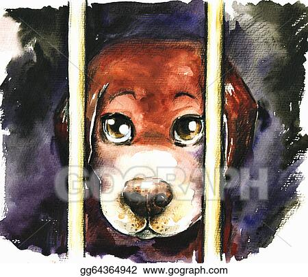 Drawing - Sad dog  Clipart Drawing gg64364942 - GoGraph