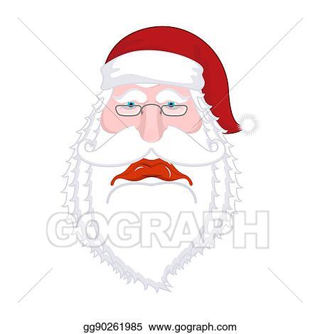 Vector Clipart Sad Santa Claus Dull Christmas Grandfather