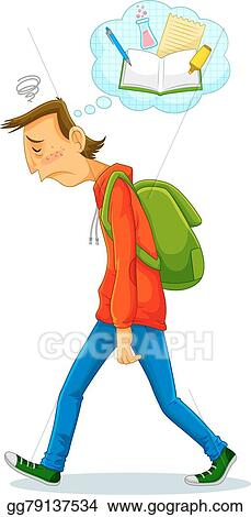 vector art sad student clipart drawing gg79137534 gograph rh gograph com