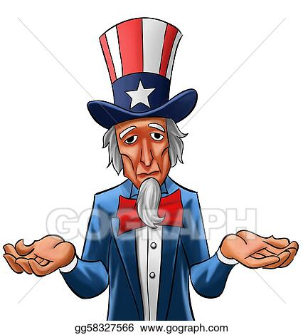 stock illustration sad uncle sam clipart gg58327566 gograph rh gograph com I Need You Uncle Sam uncle sam pointing finger clipart