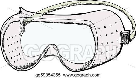 vector clipart safety goggles vector illustration gg59854355 rh gograph com Safety Goggles Cartoon Safety Goggles Cartoon