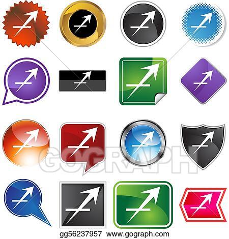 Vector Illustration Sagittarius Zodiac Symbol Eps Clipart